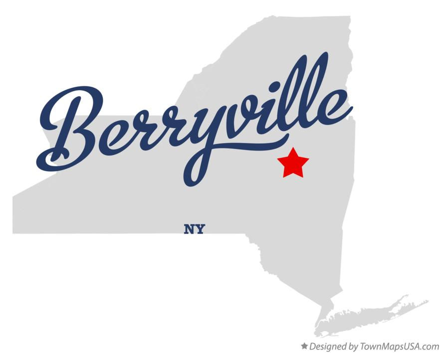 Map of Berryville New York NY