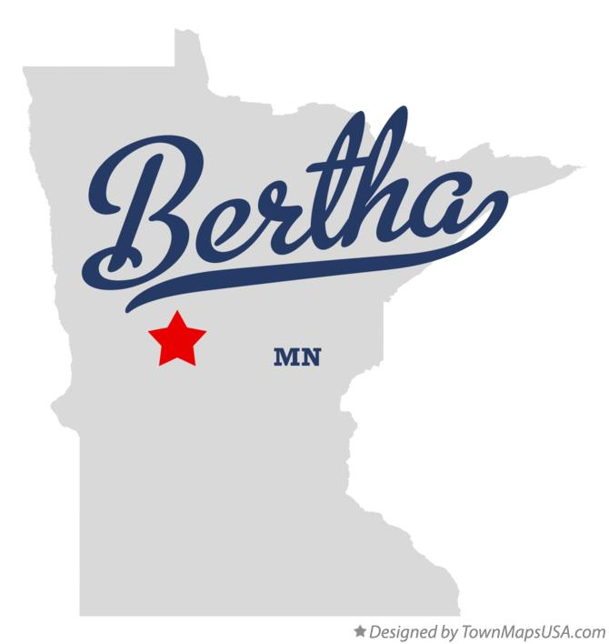 Map of Bertha Minnesota MN