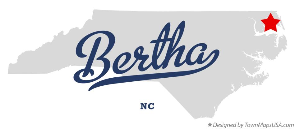 Map of Bertha North Carolina NC