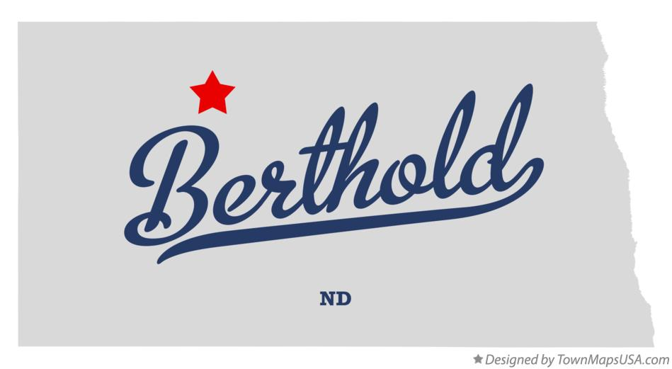Map of Berthold North Dakota ND