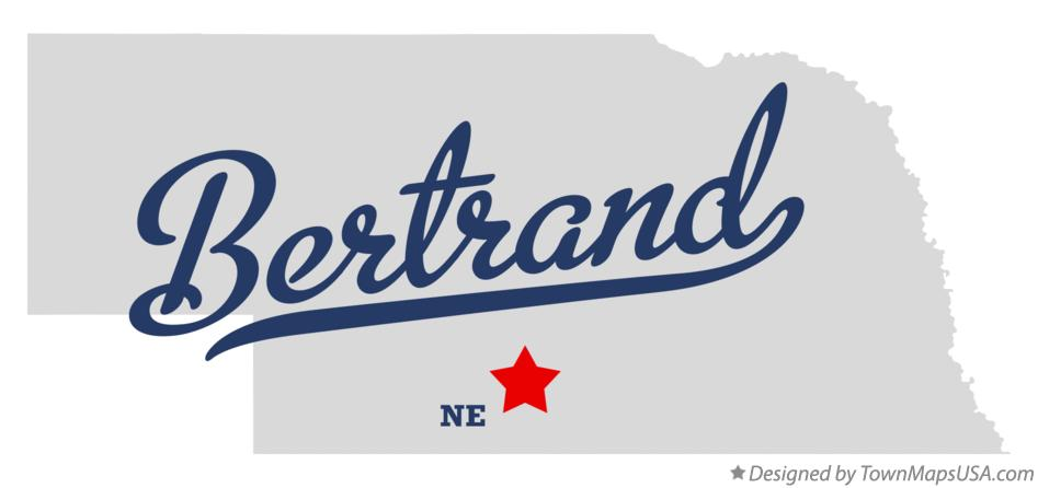 Map of Bertrand Nebraska NE