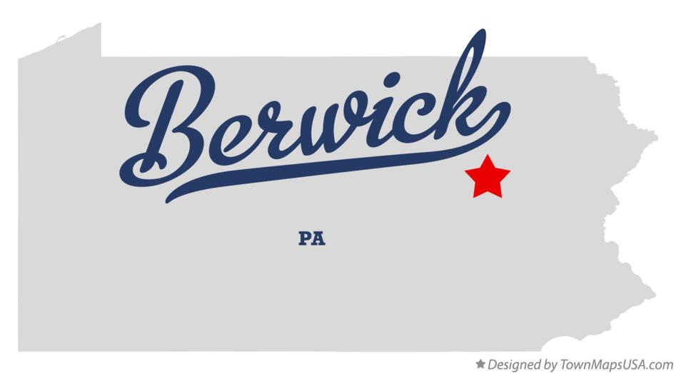 Map of Berwick Pennsylvania PA