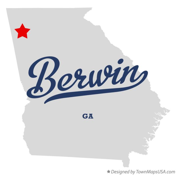 Map of Berwin Georgia GA