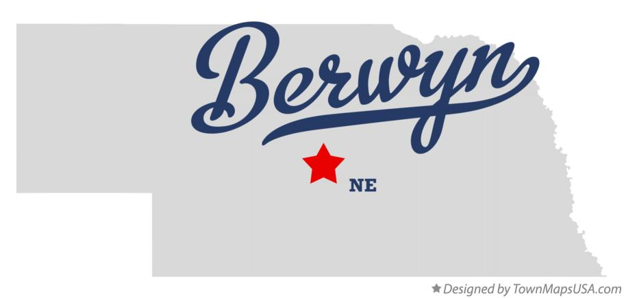 Map of Berwyn Nebraska NE
