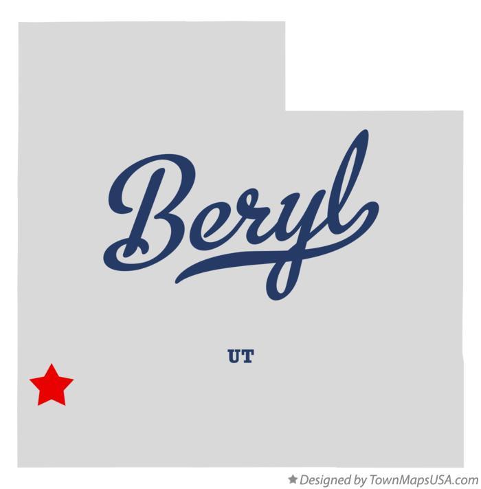 Beryl Utah Map.Map Of Beryl Ut Utah