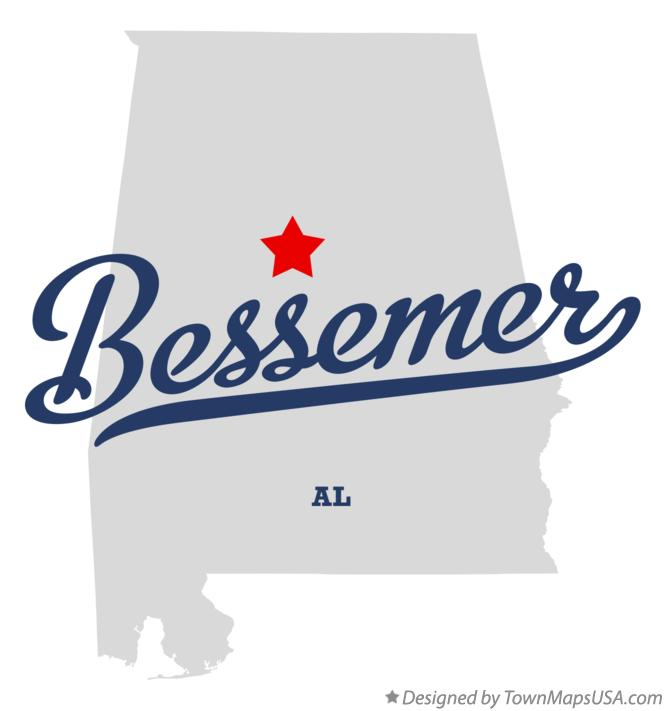 Map of Bessemer Alabama AL