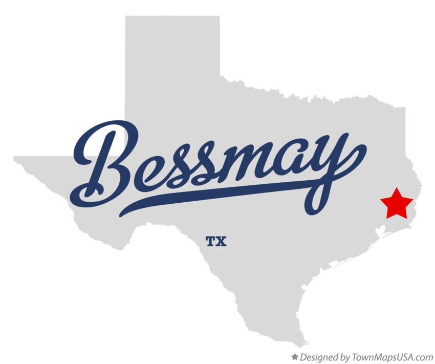 Map of Bessmay Texas TX