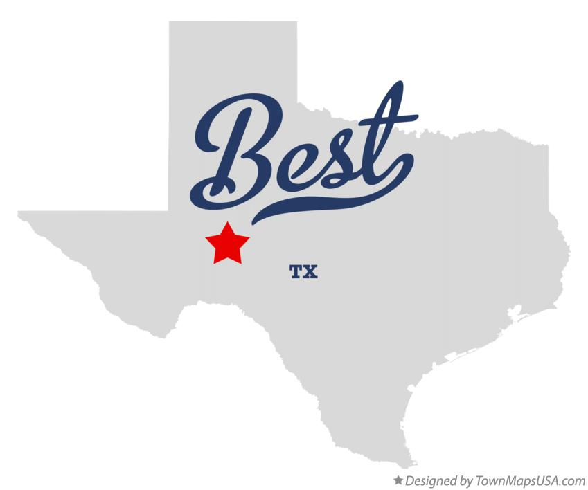 Map of Best Texas TX