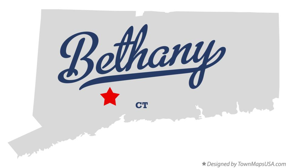 Map of Bethany Connecticut CT