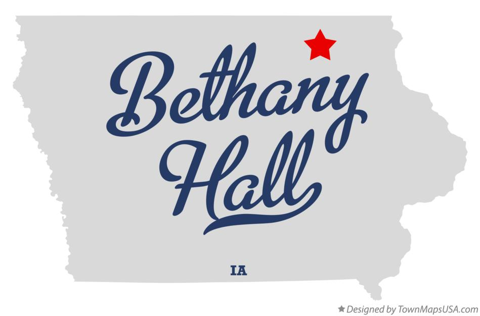 Map of Bethany Hall Iowa IA
