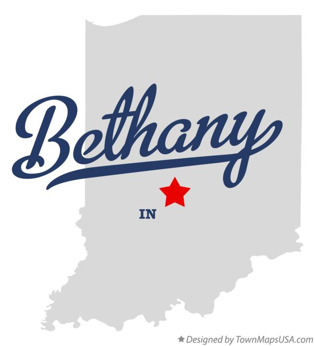 Map of Bethany Indiana IN
