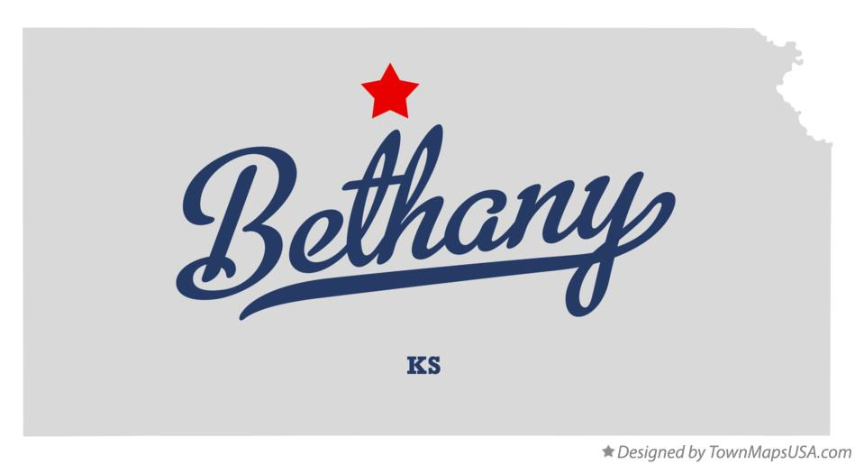 Map of Bethany Kansas KS
