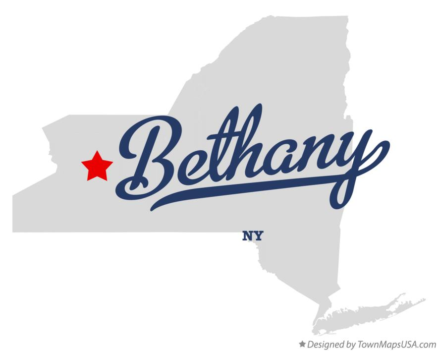 Map of Bethany New York NY