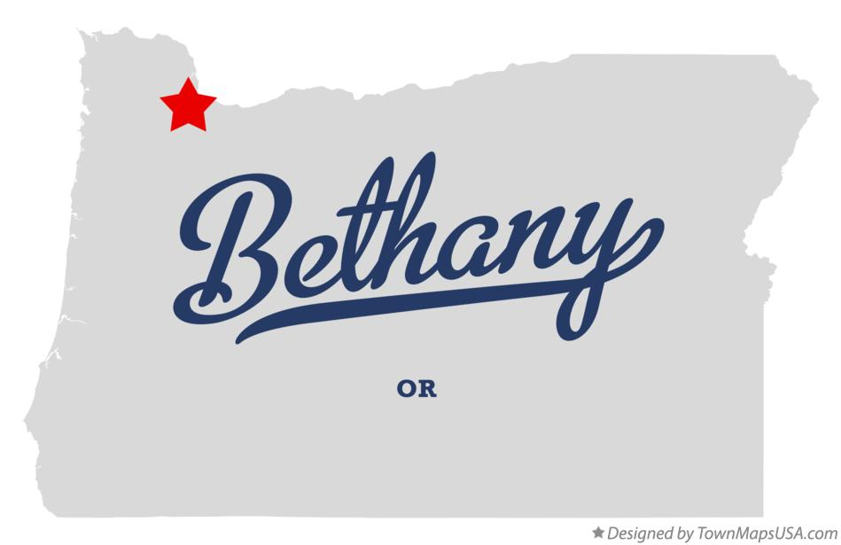 Map of Bethany Oregon OR