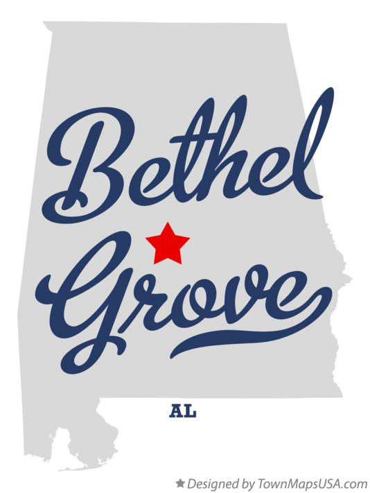 Map of Bethel Grove Alabama AL