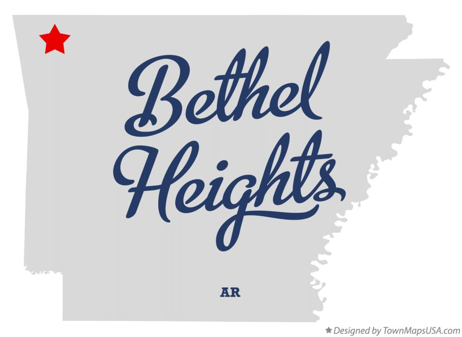 Map of Bethel Heights Arkansas AR