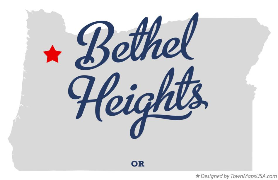 Map of Bethel Heights Oregon OR