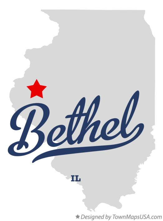Map of Bethel Illinois IL