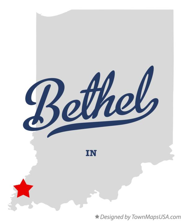 Map of Bethel Indiana IN