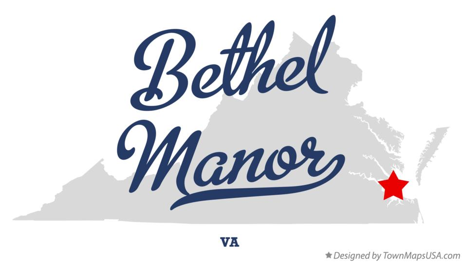 Map of Bethel Manor Virginia VA