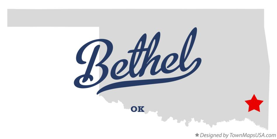 Map of Bethel Oklahoma OK
