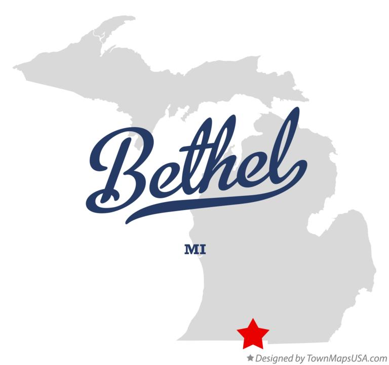 Map of Bethel Michigan MI