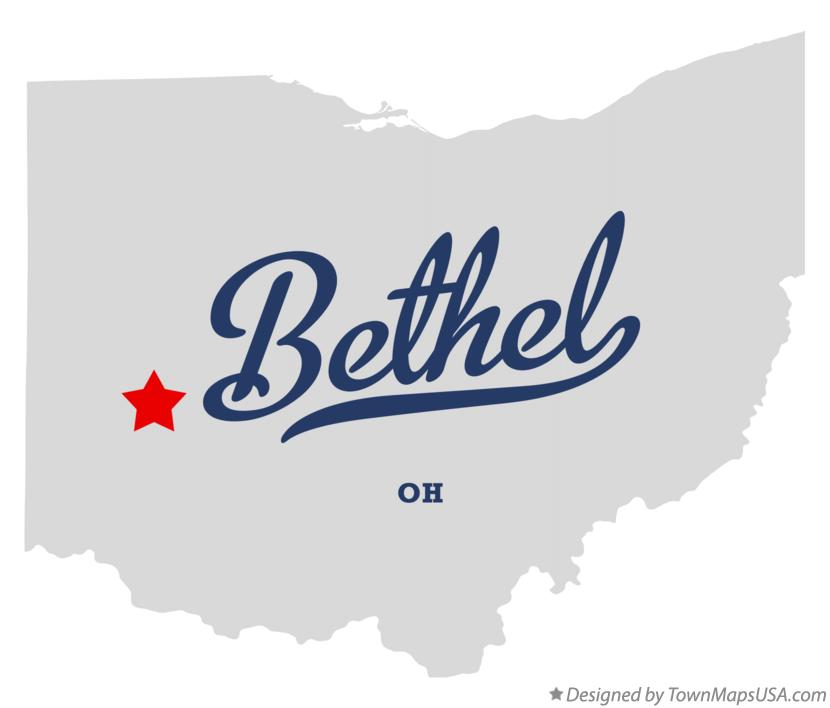 Map of Bethel Ohio OH