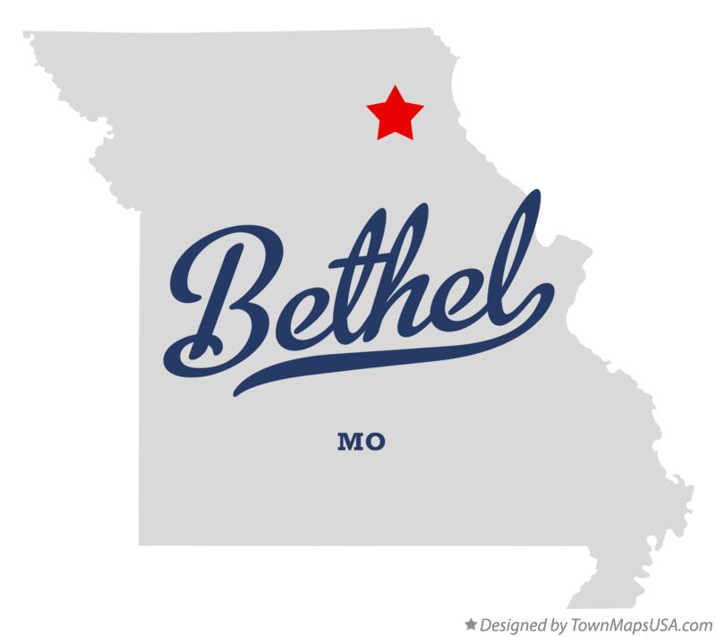 Map of Bethel Missouri MO
