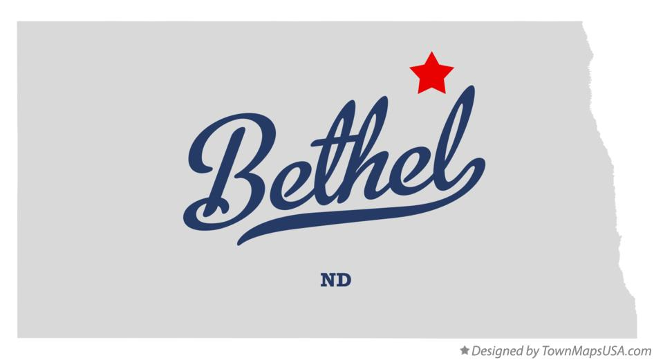 Map of Bethel North Dakota ND