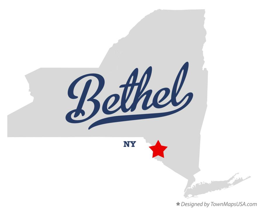 Map of Bethel, Sullivan County, NY, New York