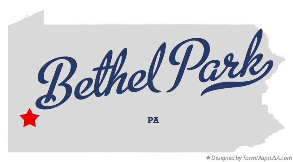 Map of Bethel Park Pennsylvania PA
