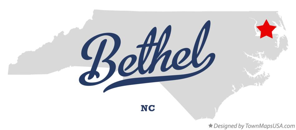 Map of Bethel North Carolina NC