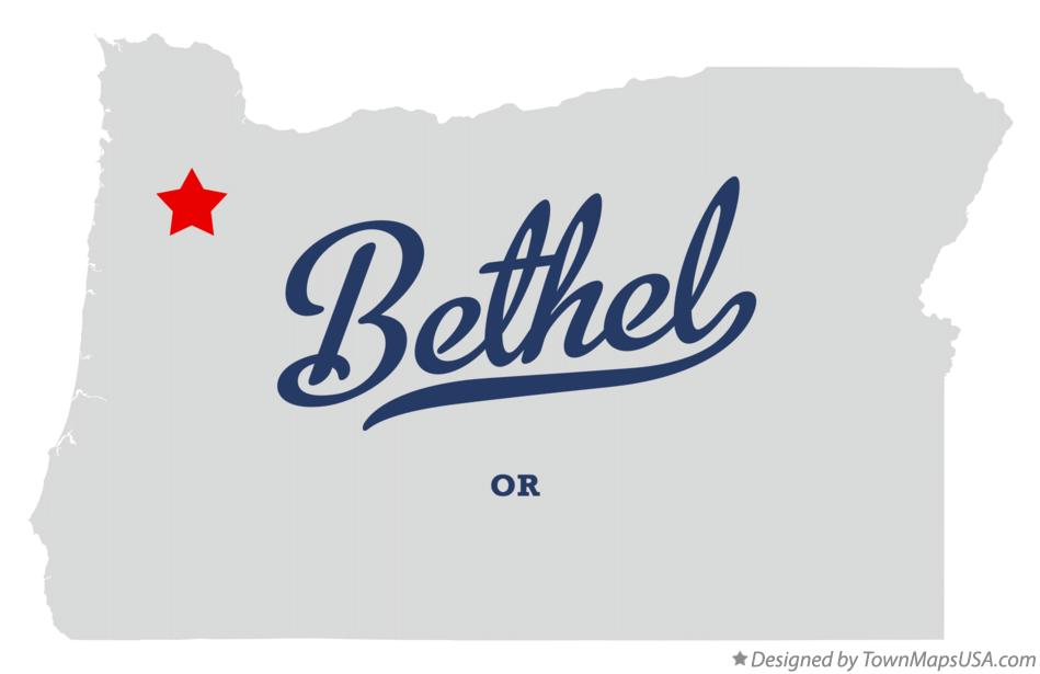 Map of Bethel Oregon OR