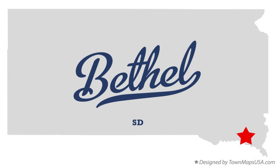 Map of Bethel South Dakota SD
