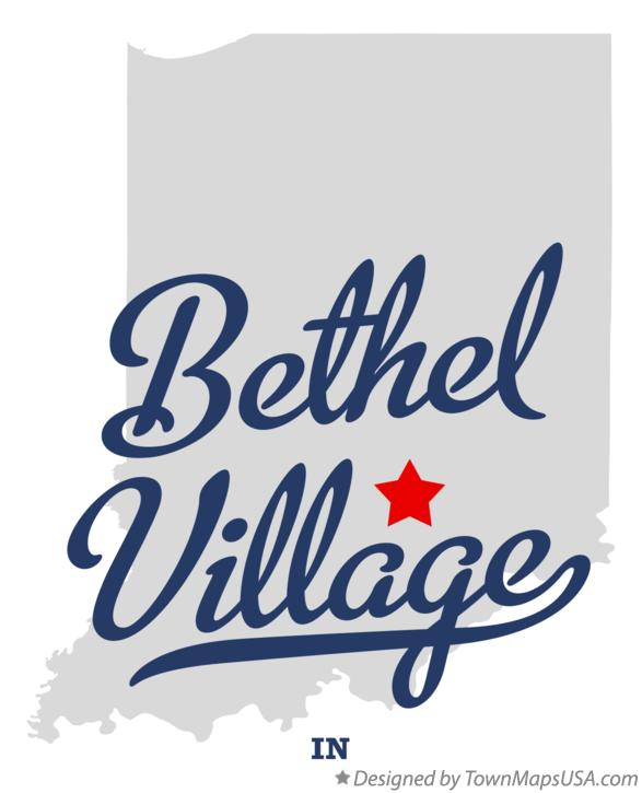 Map of Bethel Village Indiana IN