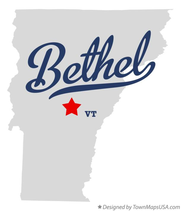 Map of Bethel Vermont VT