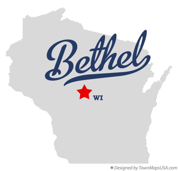 Map of Bethel Wisconsin WI