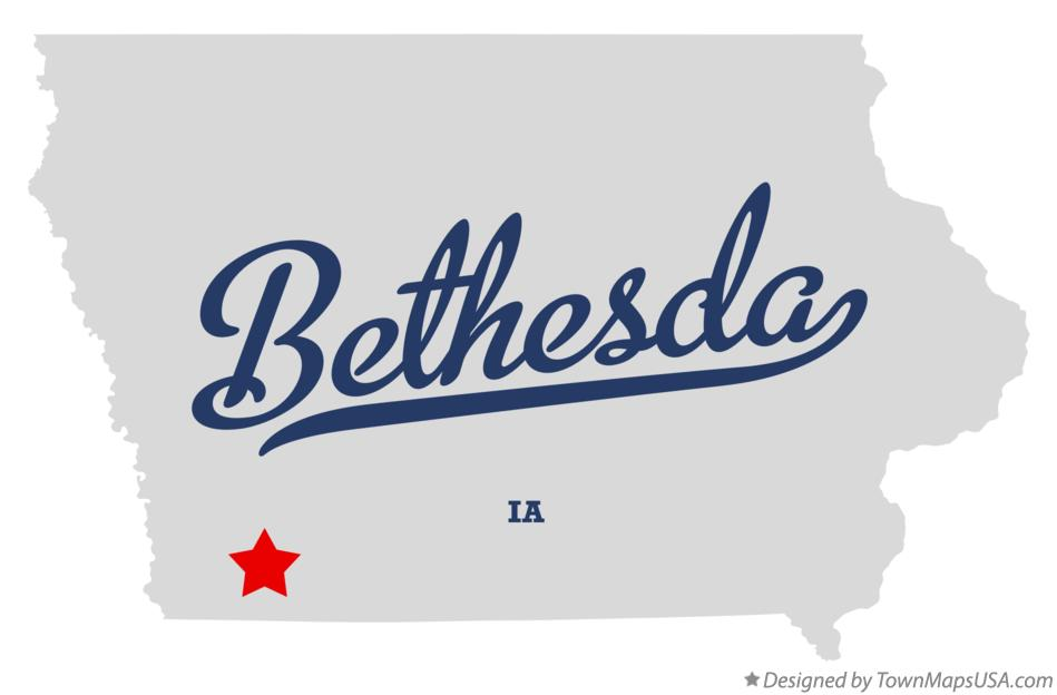 Map of Bethesda Iowa IA