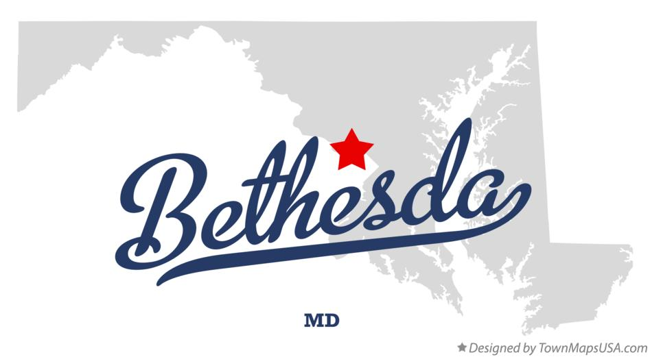 Map of Bethesda MD Maryland