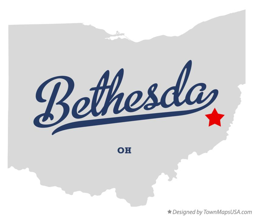 Map of Bethesda Ohio OH