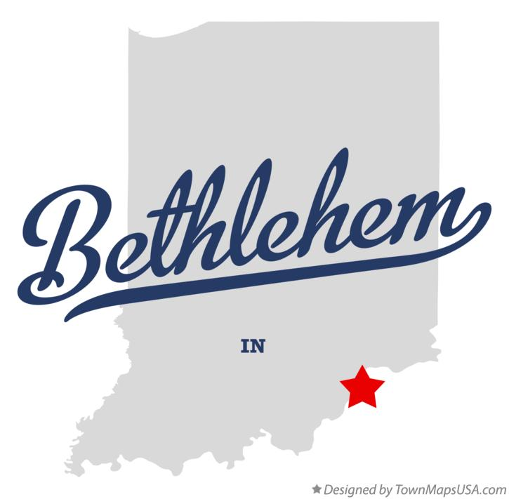 Map of Bethlehem Indiana IN