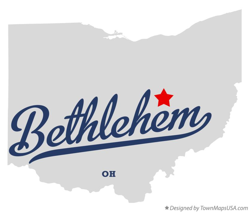 Map of Bethlehem Ohio OH