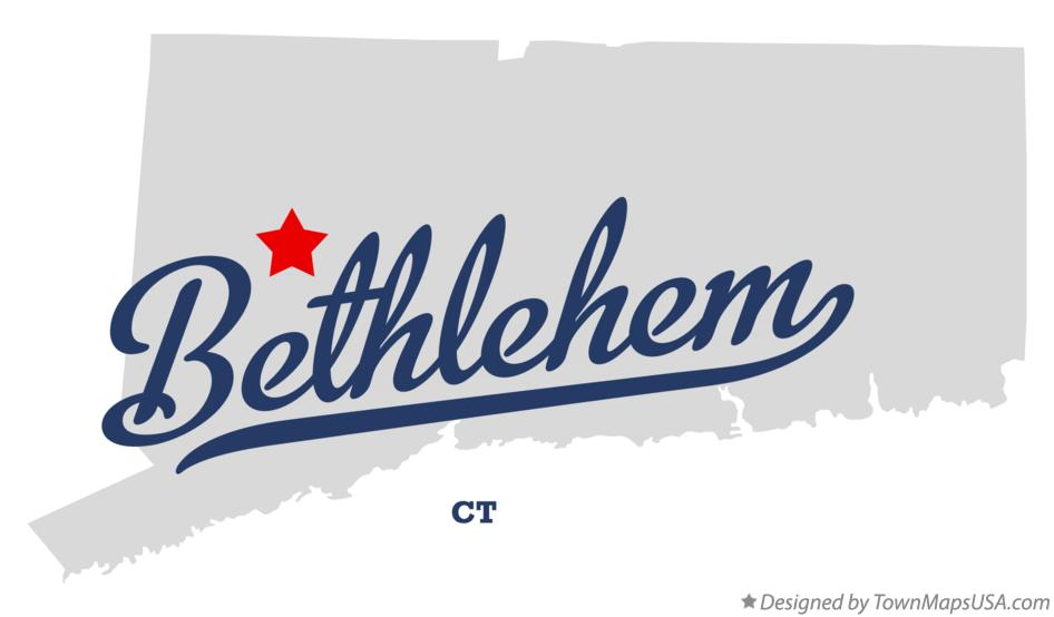 Map of Bethlehem Connecticut CT