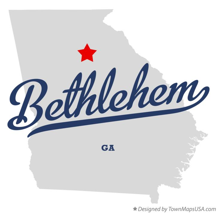 Map of Bethlehem Georgia GA