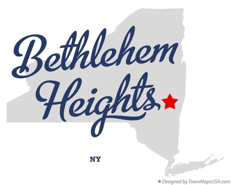 Map of Bethlehem Heights New York NY