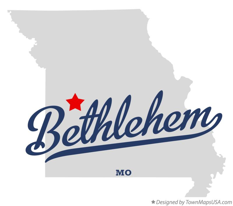 Map of Bethlehem Missouri MO