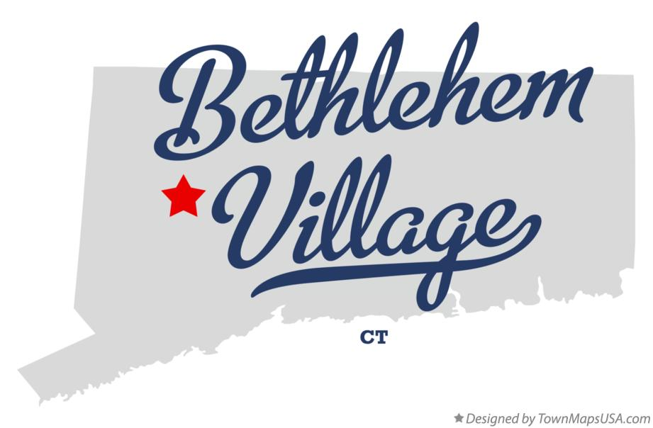 Map of Bethlehem Village Connecticut CT