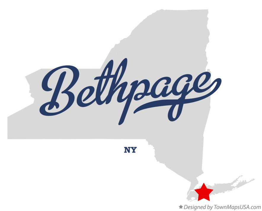 Map of Bethpage New York NY