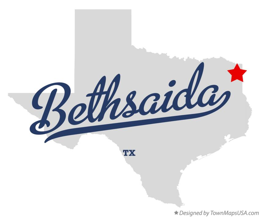 Map of Bethsaida Texas TX