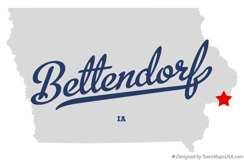 Map of Bettendorf Iowa IA